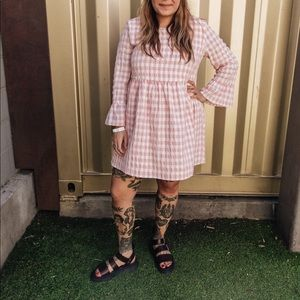 Urban Outfitters Pink Gingham Dress